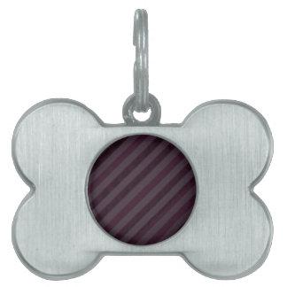 Deeply Purple Dark Stripes - Custom Pattern Pet Tag