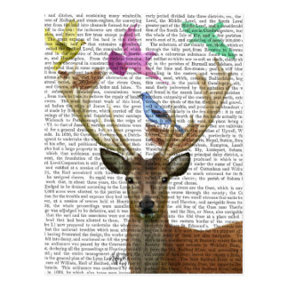 Deer and Birds Nests Pastel Shades Postcard