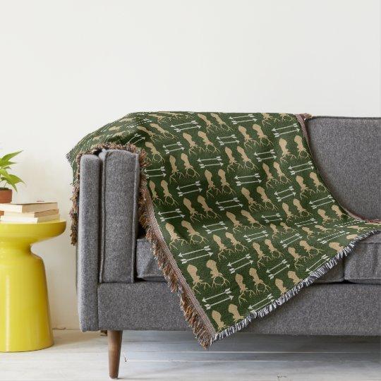 Deer Antler Arrow Pattern Throw Blanket