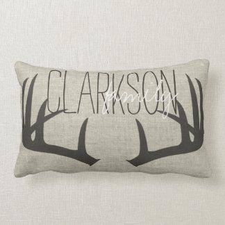 Deer Antlers Personalised Reversible Lumbar Pillow
