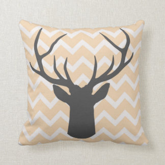 Deer Antlers with butterscotch chevron motifs Cushion