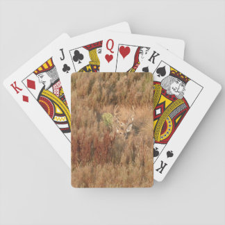 Deer Camouflage in the Brush Playing Cards