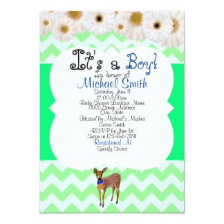 Deer Fawn Baby Shower for Boy Card