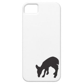 Deer fawn black white animal nature silhouette iPhone 5 covers
