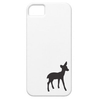 Deer fawn black white rustic chic silhouette cute iPhone 5 cases