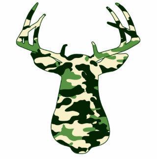 Deer Hunting Camo Buck Standing Photo Sculpture