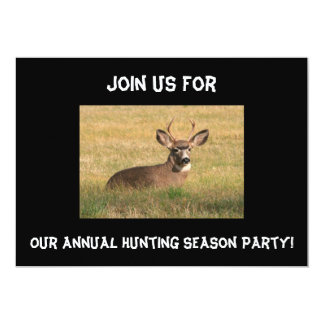 Deer Hunting Season Party Invitation. Card