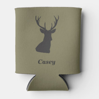 Deer Hunting Themed Can Holder Can Cooler