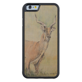Deer in Field Carved Maple iPhone 6 Bumper Case