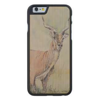 Deer in Field Carved Maple iPhone 6 Case