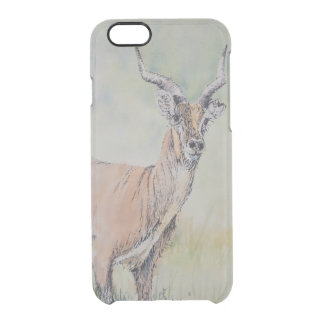 Deer in Field Clear iPhone 6/6S Case