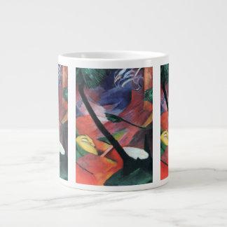 Deer in the Forest II by Franz Marc; Reh im Walde Large Coffee Mug