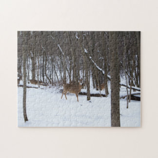 Deer In The Woods 11x14 Photo Puzzle With Gift Box