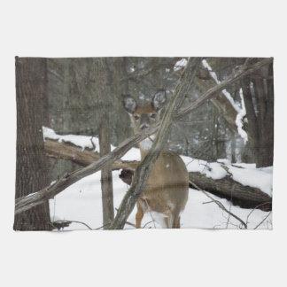 Deer In The Woods Kitchen Towel