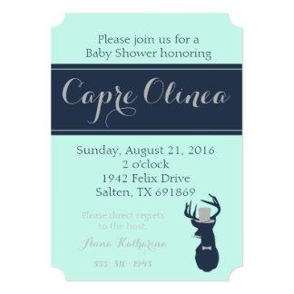 Deer Little Man Baby Shower Invitation