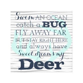 """Deer Little Man, Dream , 12""""x12"""", 1.5 Canvas Print"""