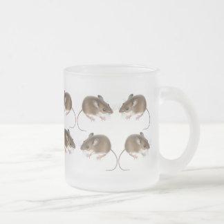 Deer Mice Frosted Glass Mug