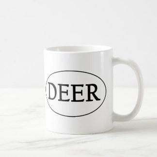 DEER Oval Logo Coffee Mug