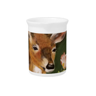 Deer Painting Pitcher