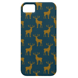 Deer Pattern Brown and Blue iPhone 5 Cases