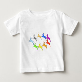 Deer Show -  Flight of Colorful Animals Baby T-Shirt