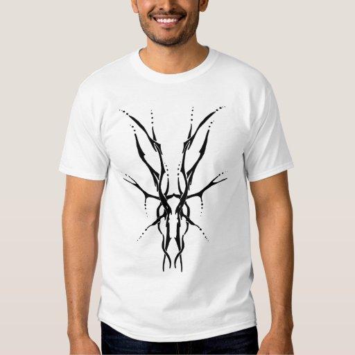 Deer Skull Tribal Tattoo - black and white Shirts