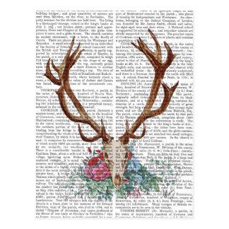 Deer Skull With Flowers 2 Postcard