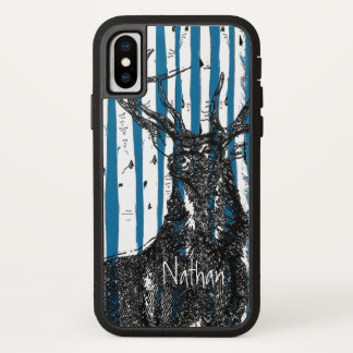 Deer/Stag Birch Tree Personalize iphone Case