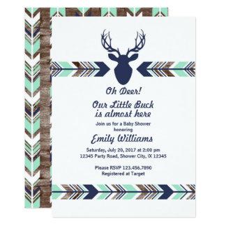 Deer Woodland Baby Shower invitation