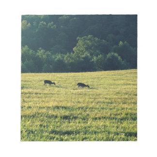 Deers Grazing Notepad