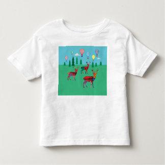 Deers & Hot Air Balloons Toddler T-Shirt