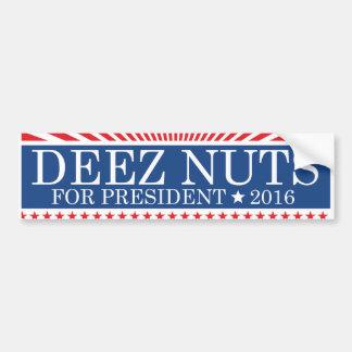 Deez Nuts For President Bumper Sticker