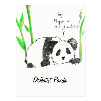 Defeatist Panda Postcard