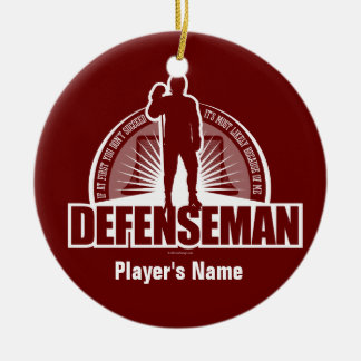Defenseman Christmas Ornament