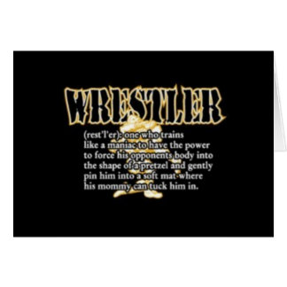 Definition of a Wrestler Greeting Card