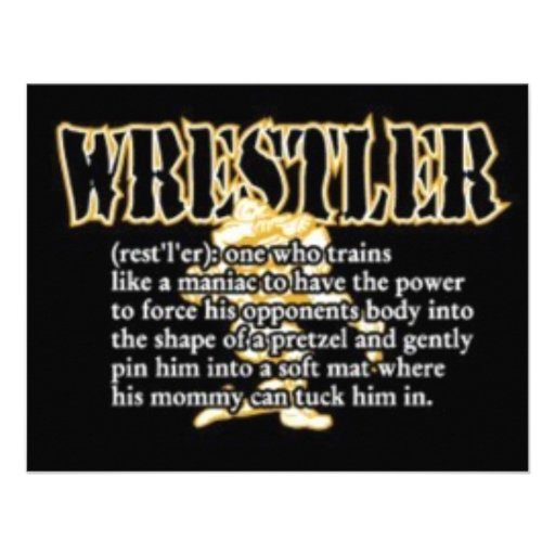 Definition of a Wrestler Personalized Announcement