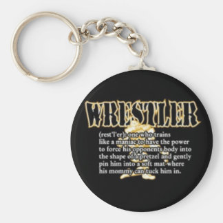 Definition of a Wrestler Key Chain