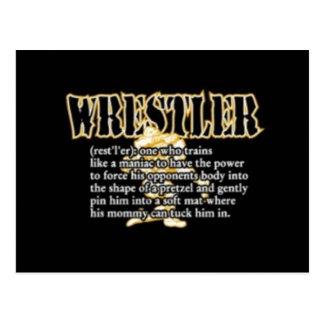 Definition of a Wrestler Postcards