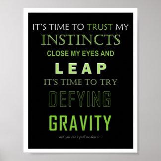 Defying Gravity Word Poster