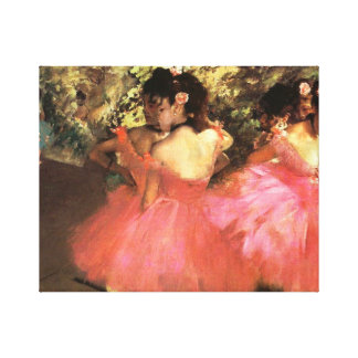 Degas Dancers in Pink Canvas Wrap