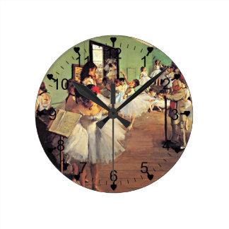 Degas: The Dance Class, 1874 Round Clock