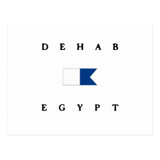 Dehab Egypt Alpha Dive Flag Postcard