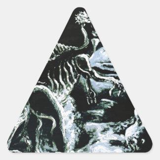 Deinos Sauros- Custom Print! Triangle Sticker