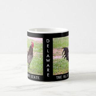 Delaware Blue Hen (Rooster) Basic White Mug