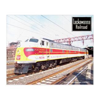 Delaware Lackawanna and Western Locomotive 808 Acrylic Wall Art