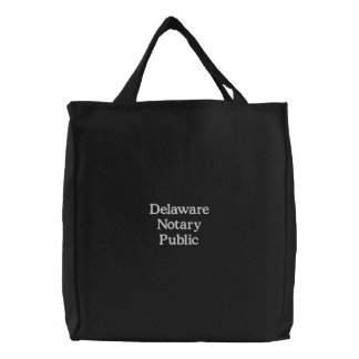 Delaware Notary Public Custom Embroidered Bag
