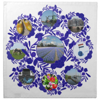 Delft Blue Delftware Style Holland Napkin