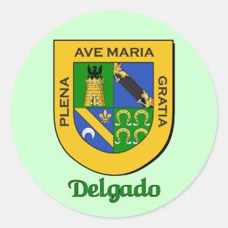 Delgado Family Shield Stickers