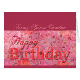 Delicate Floral pattern Grandma Birthday XL card