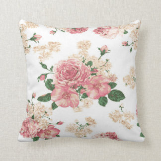 Delicate floral, pink roses cushion